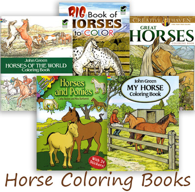 horse coloring books