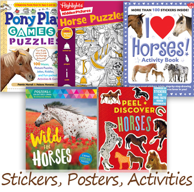 horse sticker and activity books